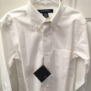 Boys Size 8 white button down shirt